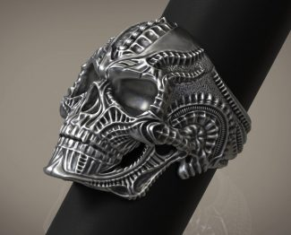 Skull Bio Mechanics Ring
