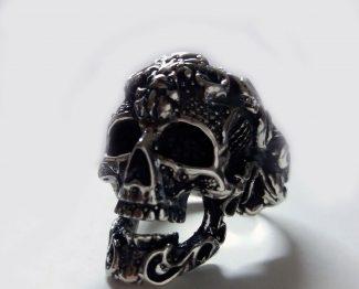 Fleur De Lis- Skull Ring