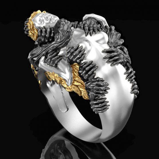 Hands on Goddess ring