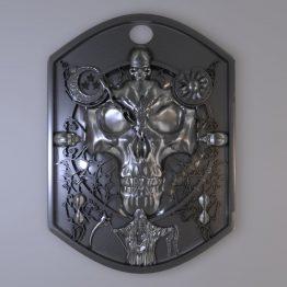 Skull cloak pendant