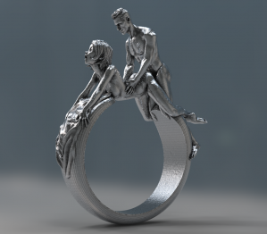 Doggy style statement ring