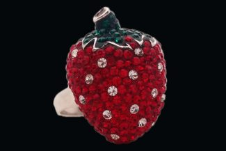 Sweet Strawberry Cocktail Ring