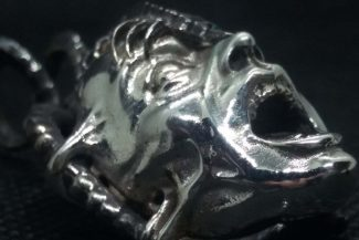 Screaming Alien Face pendant