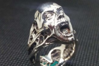 Screaming Face ring