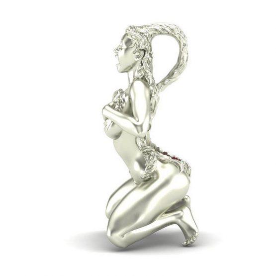 Take my heart nude girl pendant